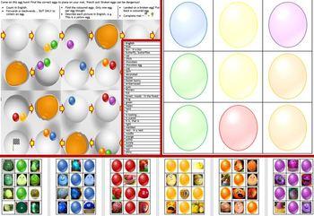 ESL, English: Easter egg hunt board game