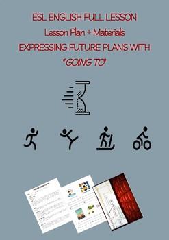 "ESL English Full Lesson:  Future Plans using ""going to"" LEVEL:Pre-Intermediate"