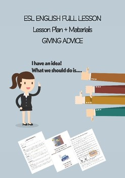 ESL English Full Lesson: Giving Advice  LEVEL: Intermediate