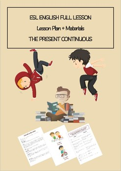 ESL English Full Lesson : The Present Continuous LEVEL: Elementary