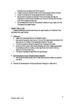 ESL English as a Second Language Spoken English Lesson Plan - Family