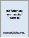 ESL - English as a Second Language Teacher Information Package