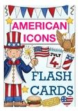 ESL / English flash cards USA / America - American icons / festivities / people