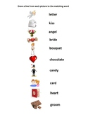ESL English worksheet noodle puzzle Valentine's Day
