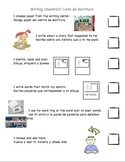ESL English/Spanish Narrative Writing Checklist