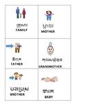 ESL: FLASH CARDS: ENGLISH/CAMBODIAN: K-2, #2 FAMILY THEME
