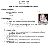 ESL Family-Friendly Syllabus