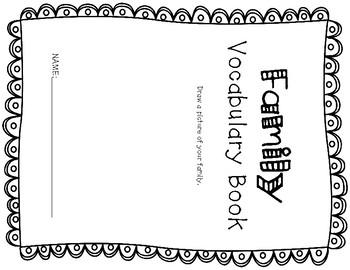 ESL Family Vocabulary Flip Books