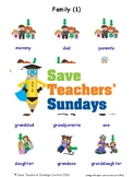 ESL Family Worksheets, Games, Activities and Flash Cards (with audio) 1