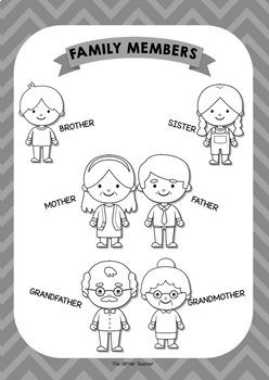 [POSTER][WORKSHEET] Family members vocabulary - years 1 & 2