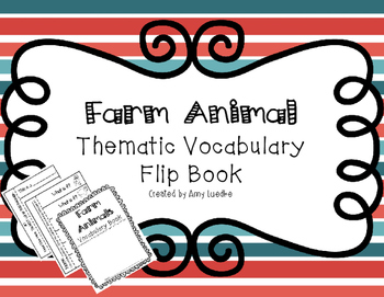 ESL Farm Animal Vocabulary Flip Books