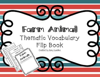 ESL Farm Animal Vocabulary Flip Books