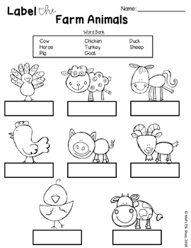 ESL Farm Animals - Flashcards, Worksheets & Activities