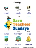 ESL Farming Worksheets, Games, Activities and Flash Cards (with audio) 2