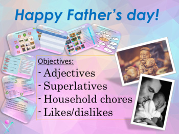 ESL Father's day, superlatives, household chores