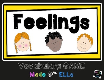 ESL Feelings Vocabulary Board Game