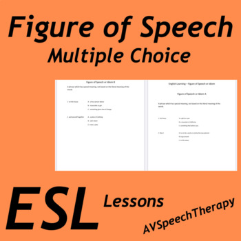 ESL Figure of Speech: Multiple Choice Practice