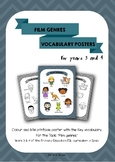 ESL Film genres vocabulary posters for years 3 & 4