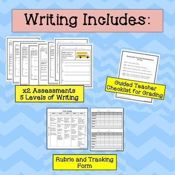 ELL First Grade Progress Monitoring, BUNDLE (Reading Writing Listening Speaking)