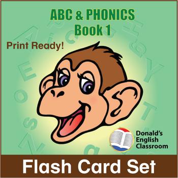 ESL Flash Cards-ABC & Phonics, Book 1