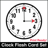 ESL Flash Cards-Clocks