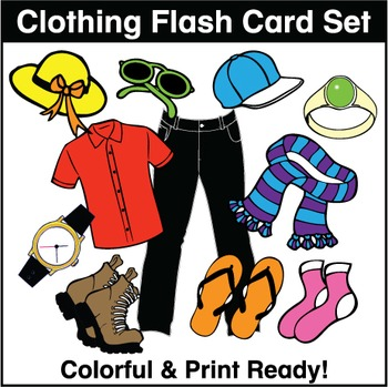 Clothing Flash Cards