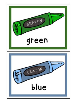 ESL Flash Cards - Colors US