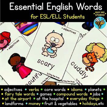 ESL /ELL Vocabulary Flash Cards | Essential English Words (set 2)