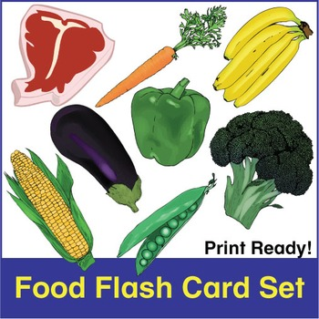 Food and Drink Flash Cards
