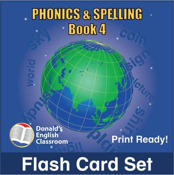 ESL Flash Cards-Phonics & Spelling, Book 4