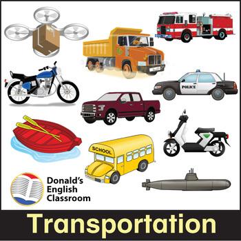 ESL Flash Cards-Transportation