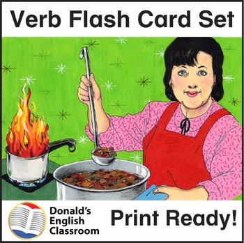 ESL Flash Cards-Verbs 1