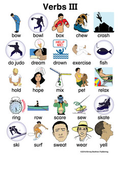 Verb Flash Cards 2