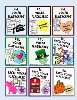 ESL / ELL Flashcards BUNDLE