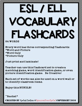 ESL / ELL Flashcards BUNDLE