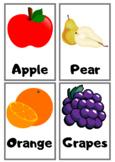 ESL Flashcards for foods!