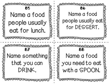 ESL Food Group Task Cards