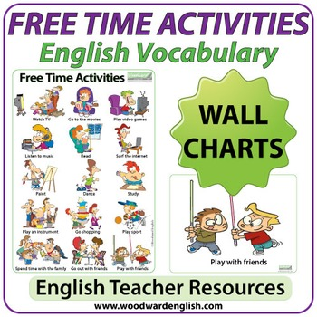 Esl Free Time Activities Charts Flash Cards By