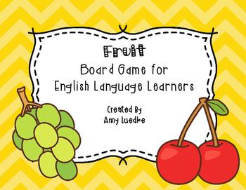 ESL Fruit Vocabulary Board Game