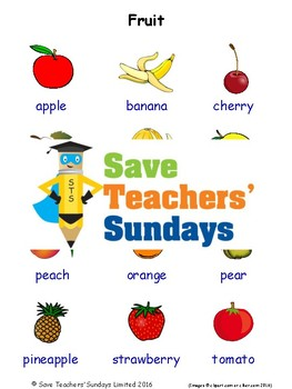 ESL Fruits Worksheets, Games, Activities and Flash Cards (with audio) 1