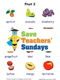 ESL Fruits Worksheets, Games, Activities and Flash Cards (with audio) 2