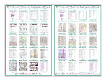 ESL Fun Class Level 1-A Student & Teacher Books