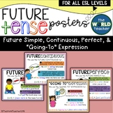 """ESL Future Tense Posters - Future Simple, Continuous, Perfect, """"Going-To"""""""