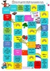 BOARD GAME - ORAL LANGUAGE - COLOURS AND RAINBOWS - UK ENG