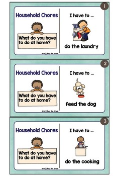 ESL GAMES: I have to ... (Household Chores)