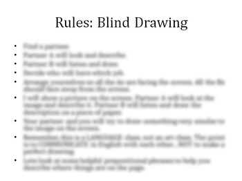ESL Game: Blind Drawing