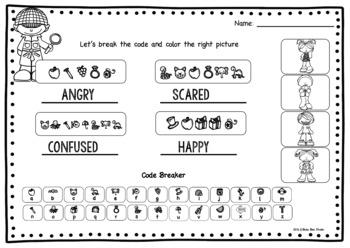 """ESL Game """"Break the Code"""":Emotions"""