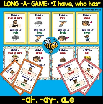 """ESL Game: Long -A- """"I have, who has"""""""