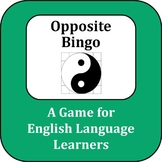 ESL Game: Opposite Bingo