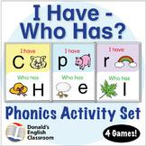 ESL Games - ABC & Phonics - I Have, Who Has Activity
